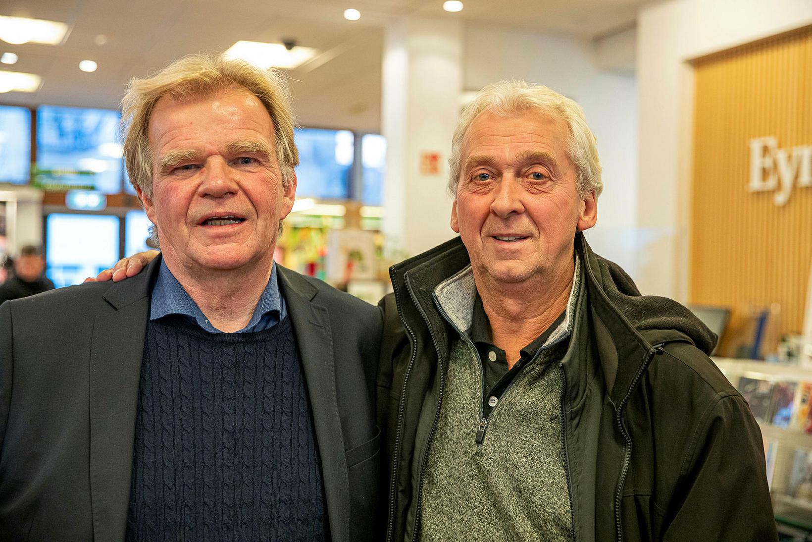 Einar Már Guðmundsson og Gunnar Bollason.