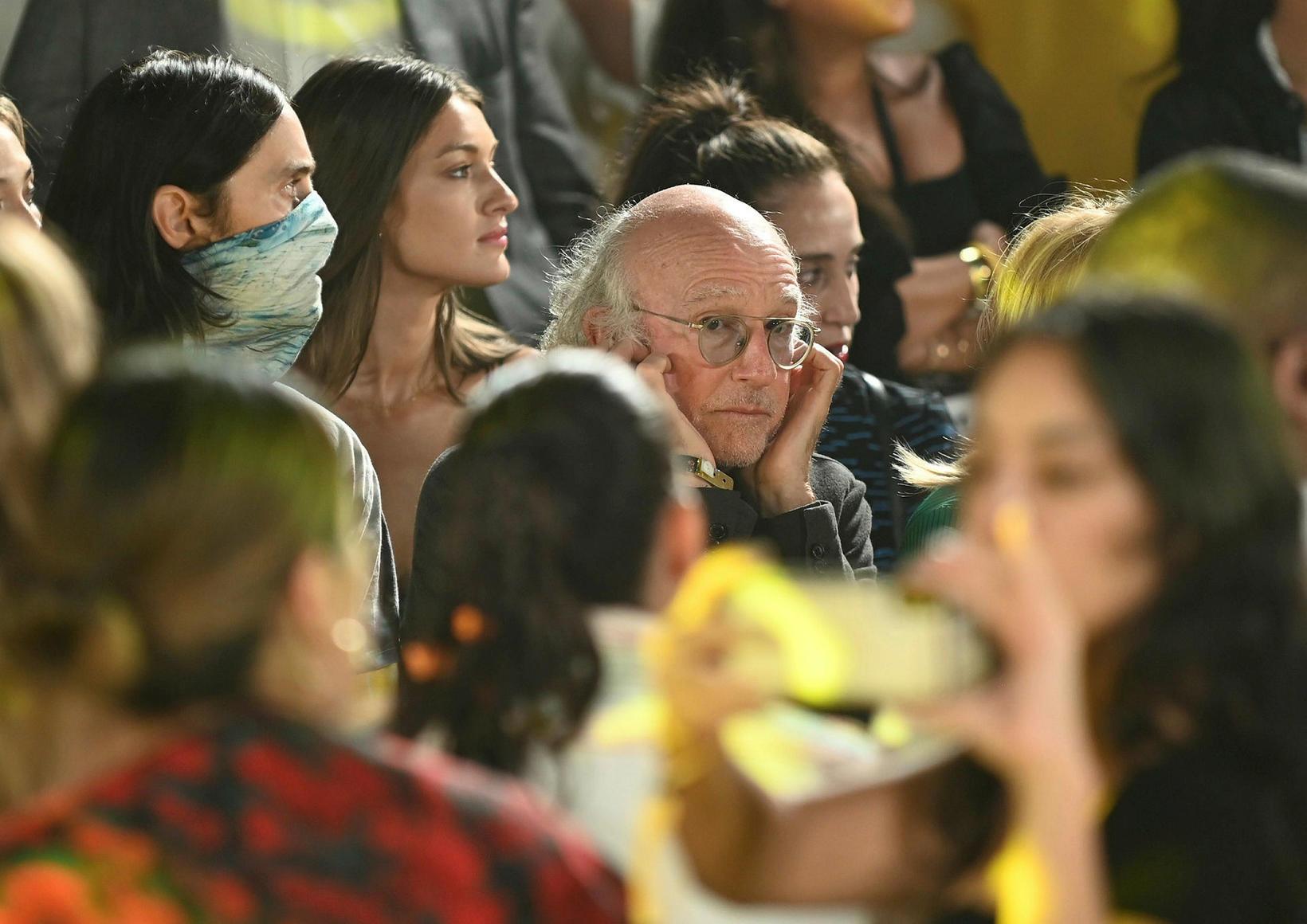 Grínistinn Larry David lét sjá sig á tískuvikunni í New …