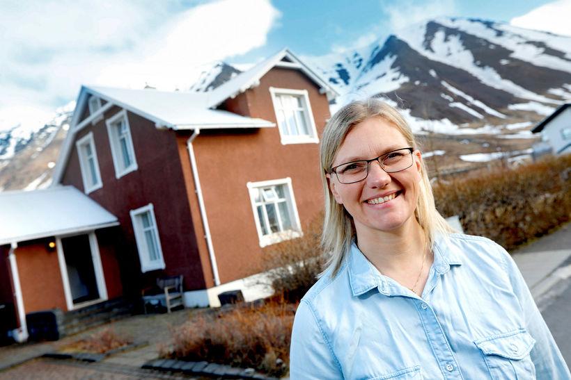 Kristín Guðmunda Pétursdóttir rekur gistiheimilið Litlabýli á Flateyri.