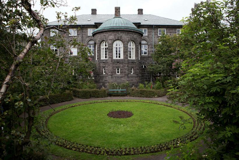 Alþingishúsið, the parliamentary building.