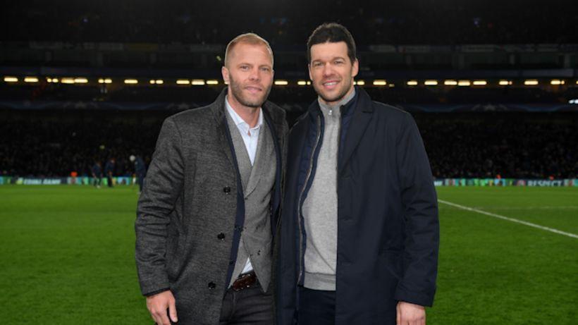 Eiður Smári og Michael Ballack spila saman á Stamford Bridge.