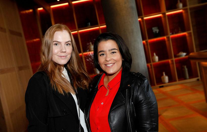 Alexsandra Bernharð og Fanney Dóra Veigarsdóttir.