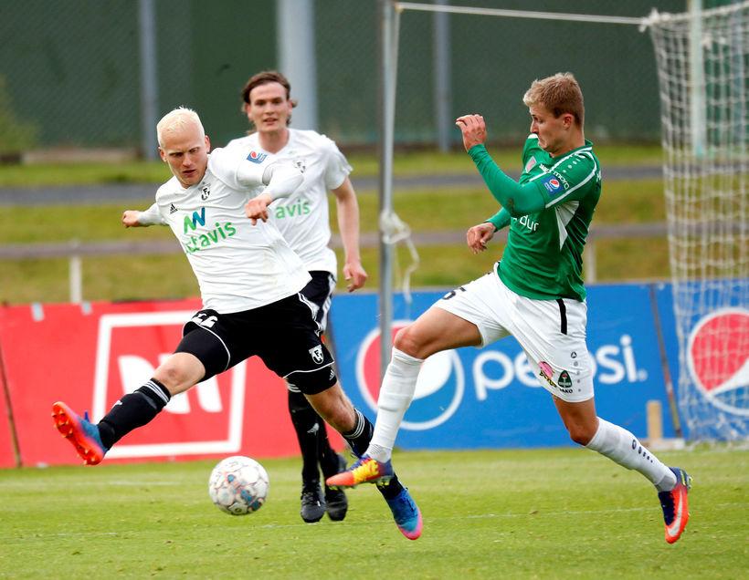 Halldór Orri Björnsson í leik með FH gegn Breiðabliki.