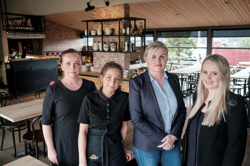 Emma Ragnheiður Marinósdóttir, second from the right, along with her ...
