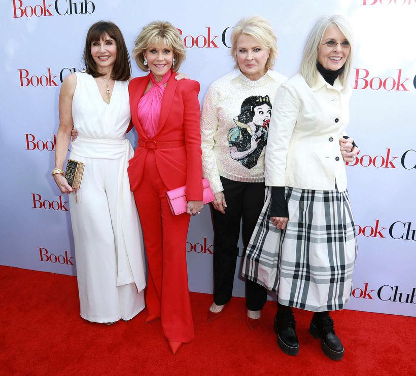 Mary Steenburgen, Jane Fonda, Candice Bergen og Diane Keaton fara ...