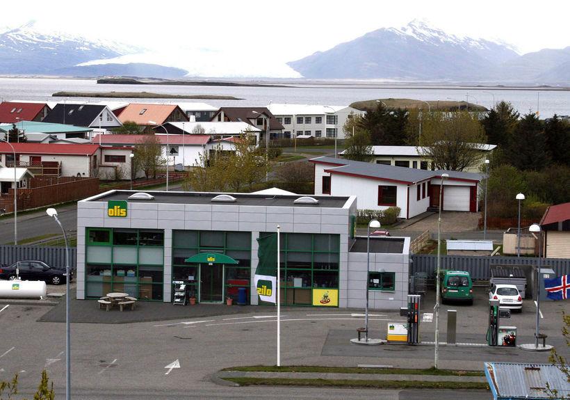 Bensínstöð Olís á Höfn í Hornafirði.