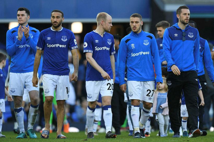 Gylfi Þór Sigurðsson og félagar hans í Everton.