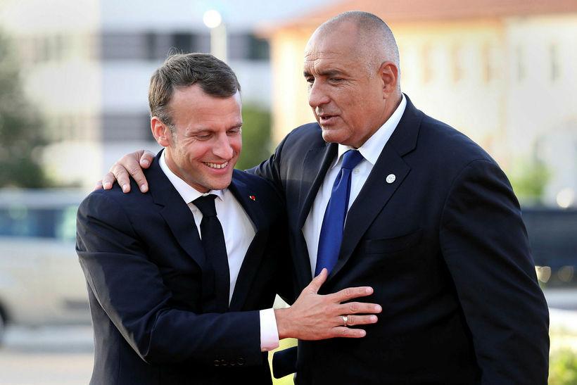Emmanuel Macron, forseti Frakklands og Boyoko Borisov, forsætisráðherra Búlgaríu, í ...