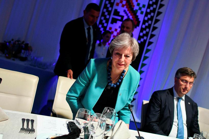 Theresa May, forsætisráðherra Bretlands, í Búlgaríu.