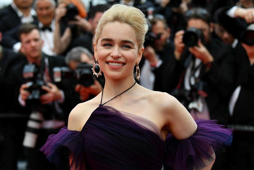 Emilia Clarke í kjól frá Dior á Cannes.