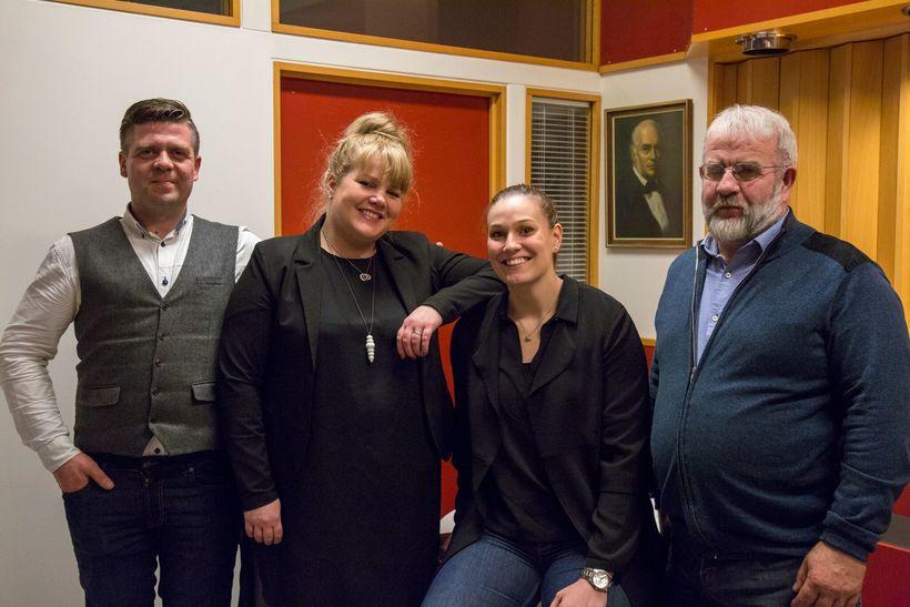 Frá vinstri: Davíð Sigurðsson, Guðveig Anna Eyglóardóttir, Sigrún Sjöfn Ámundadóttir ...
