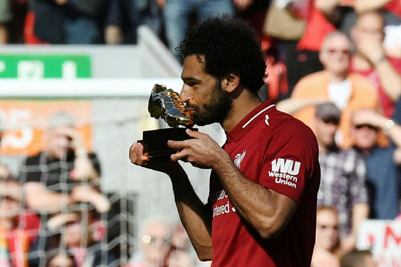 Mohamed Salah skoraði flest mörk allra í ensku úrvalsdeildinni, 32 ...
