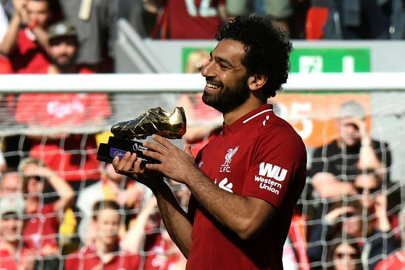 Mohamed Salah með gullskóinn.