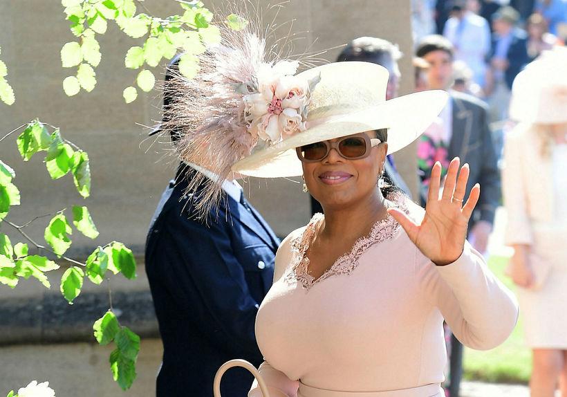 Oprah Winfrey í brúðkaupi hjónanna.