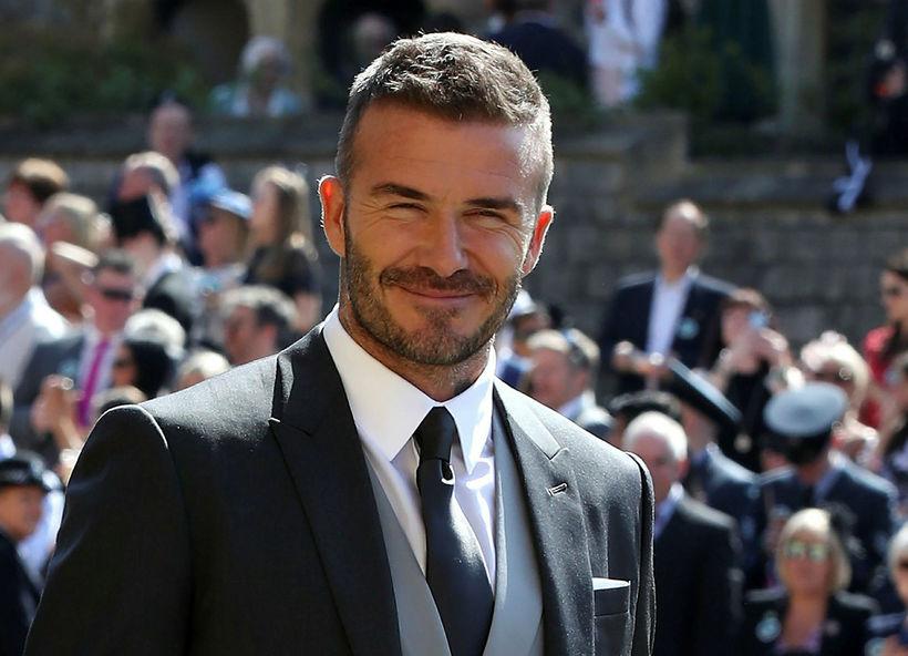David Beckham er þekktur fyrir að nota mikið af lyndistáknum ...
