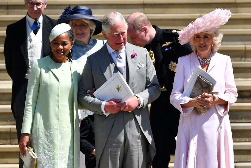 Mamma Meghan, Doria Ragland, Karl Bretaprins og Camilla.