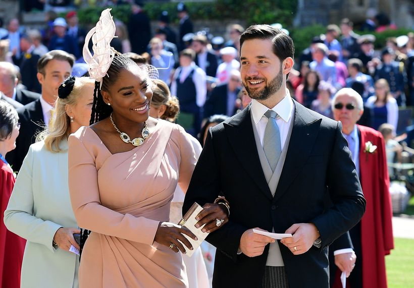 Serena Williams og Alexis Ohanian í brúðkaupi Harry og Meghan.