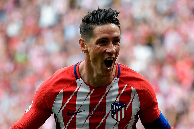 Fernando Torres fagnar í dag.
