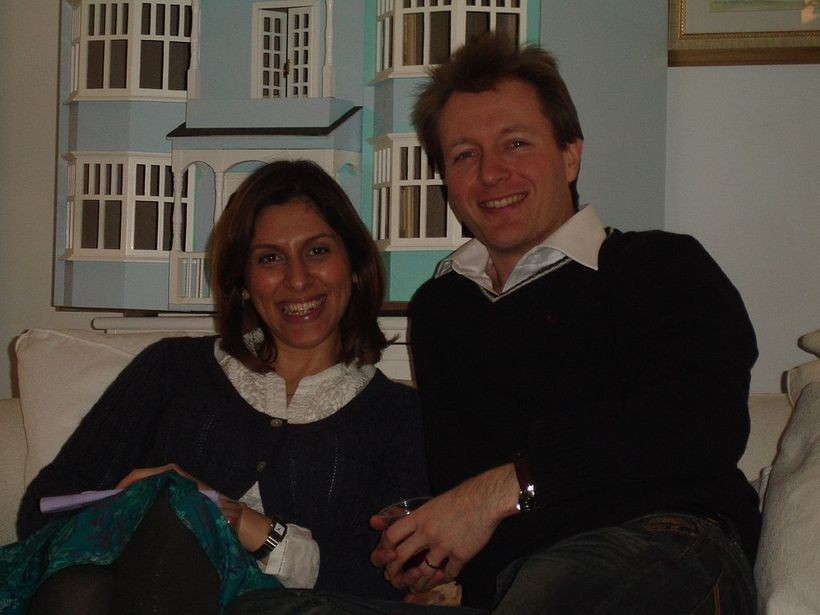 Nazanin Zaghari-Ratcliffe og Richard Ratcliffe. Myndin er tekin á gamlárskvöld ...