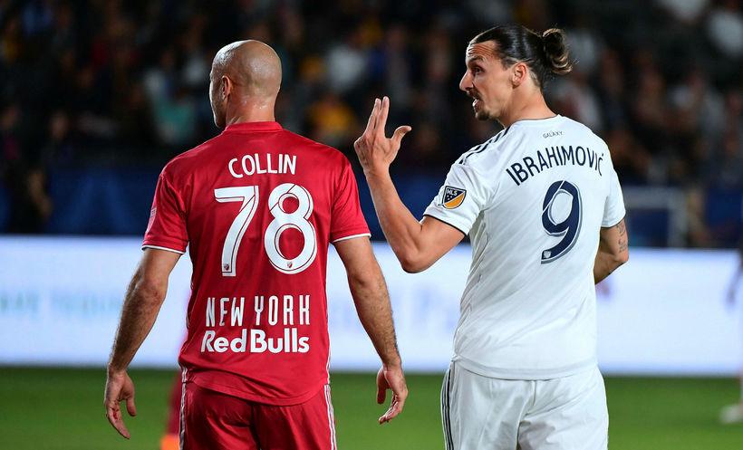 Zlatan Ibrahimovic lét reka sig af velli í kvöld.