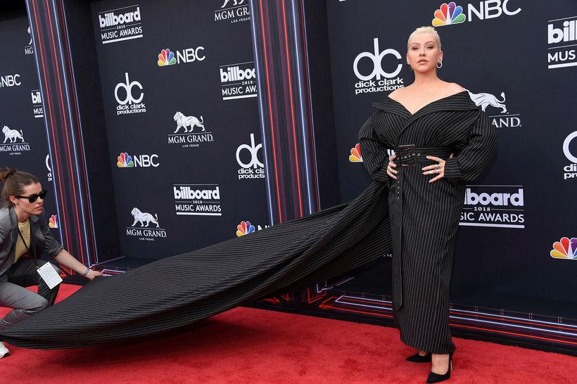 Christina Aguilera á Billboard-tónlistarverðlaunahátíðinni árið 2018.