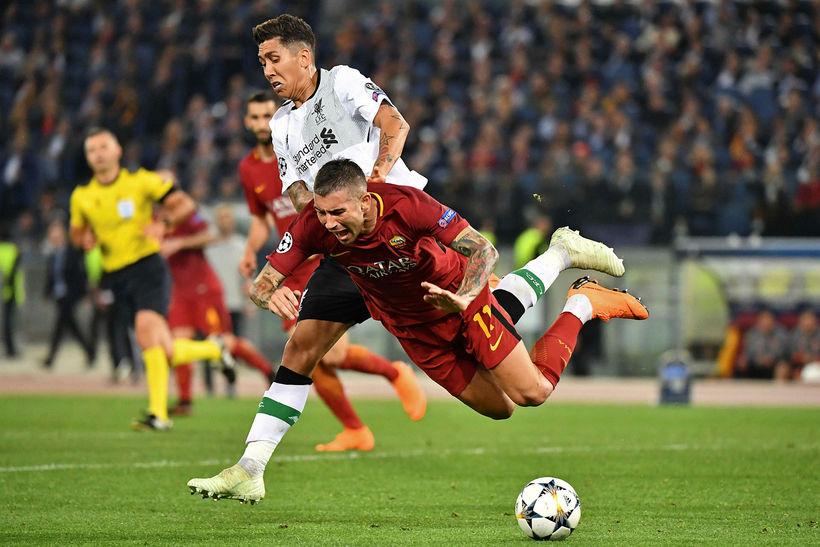 Frá leik Liverpool og Roma.