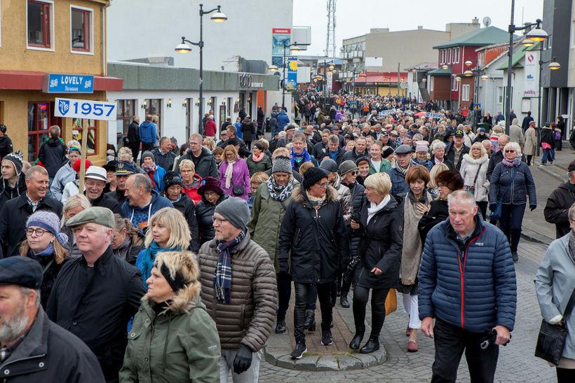Árgangaganga í Reykjanesbæ á Ljósanótt 2017.