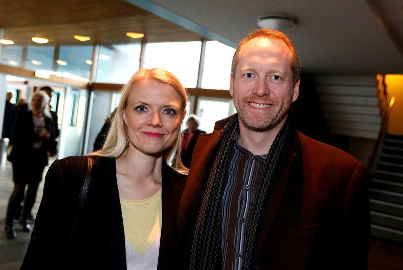 Guðmundur Ingi Guðbrandsson ásamt vinkonu.