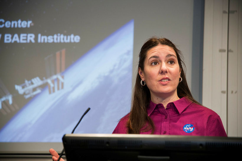 Dr. Jennifer Heldmann explained NASA's interest in Iceland at a …