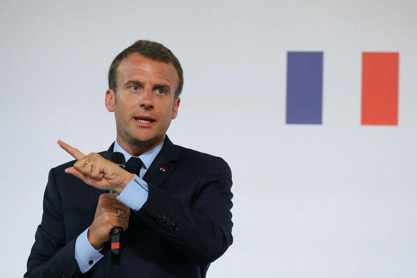 Forseti Frakklands, Emmanuel Macron.