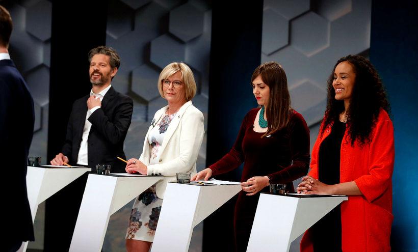 Dagur B. Eggertsson, Vigdís Hauksdóttir, Dóra Björt Guðjónsdóttir og Sanna ...