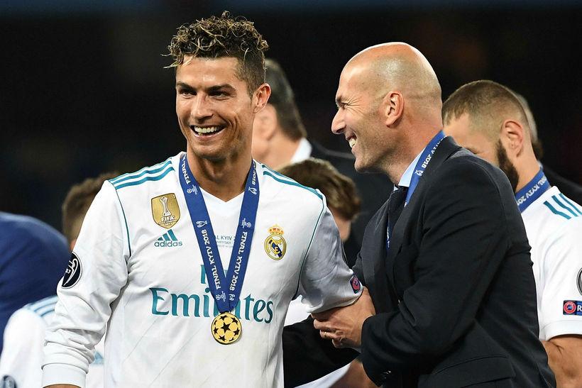 Cristiano Ronaldo og Zinedine Zidane.