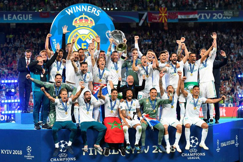 Real Madrid hefur unnið Meistaradeild Evrópu þrjú ár í röð.