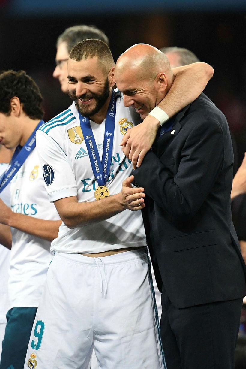 Zinedine Zidane og Karim Benzema