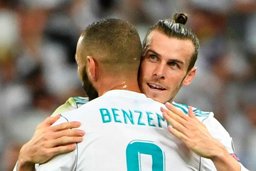 Markaskorararnir Gareth Bale og Karim Benzema.