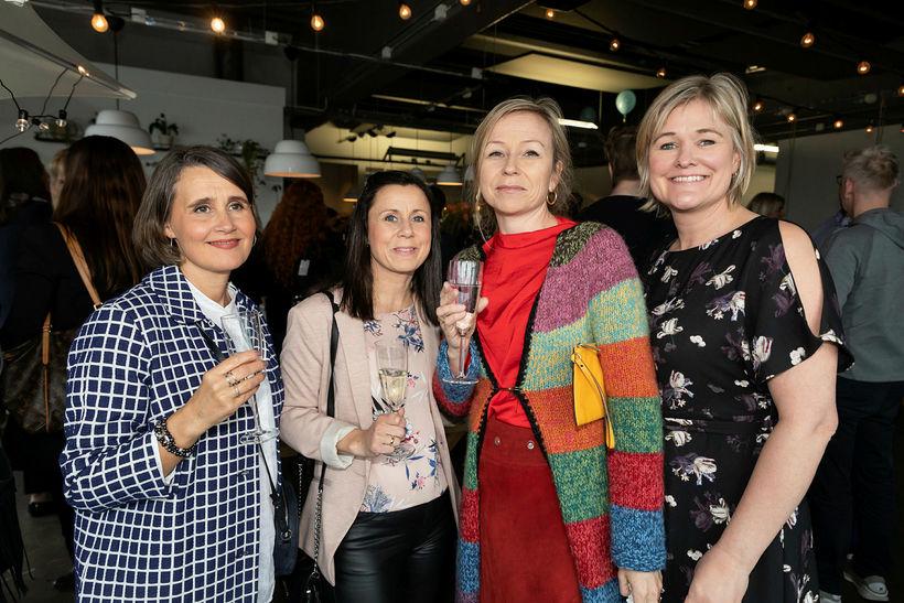 Jóhanna Magnúsdóttir, Ingibjörg Stefánsdóttir, Sara Gylfadóttir og Arna Hansen.