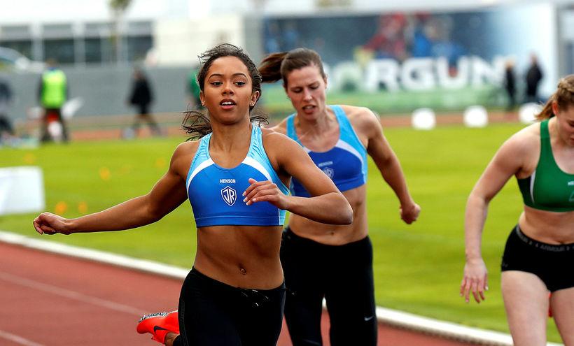Tiana Ósk Whitworth kom fyrst í mark í 200 metra ...
