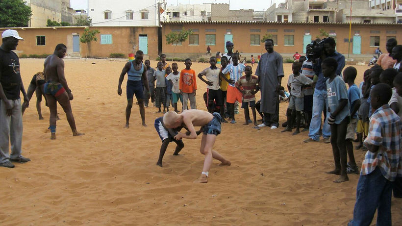 Daníel æfði glímu í Dakar þegar hann bjó þar ásamt ...