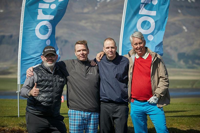 Davíð Sigurðsson, Valtýr Gíslason, Viktor Steinarsson og Guðmundur Ingason.