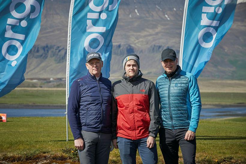 Guðmundur Hallgrímsson, Brynjar Darri Jónasson og Guðmundur Garðarsson.