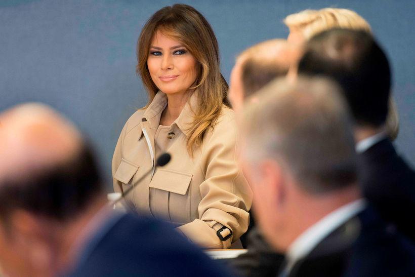 Melania Trump á fundi fyrr í vikunni.