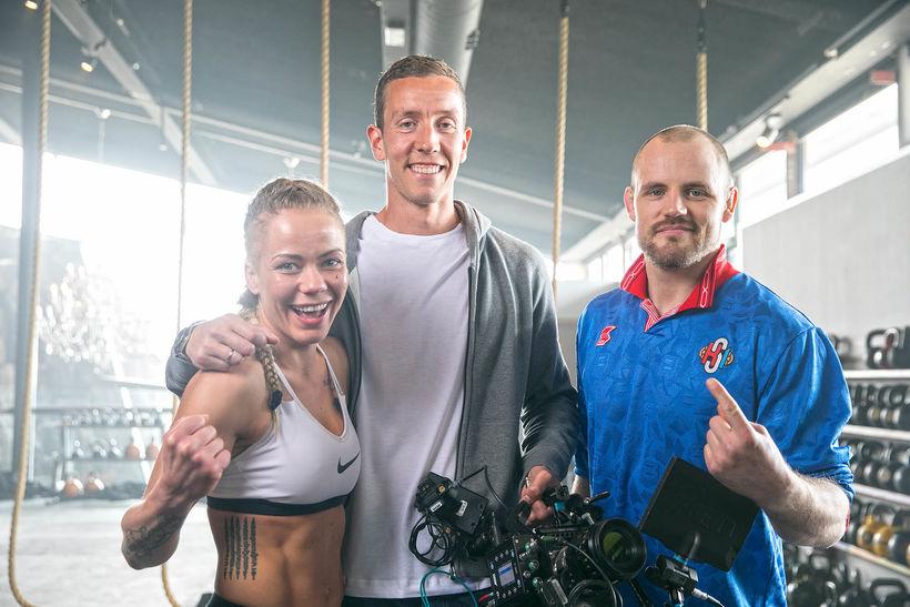 Sunna, Hannes og Gunnar Nelson.