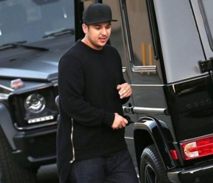 Rob Kardashian á erfitt með að halda sér í kjörþyngd.