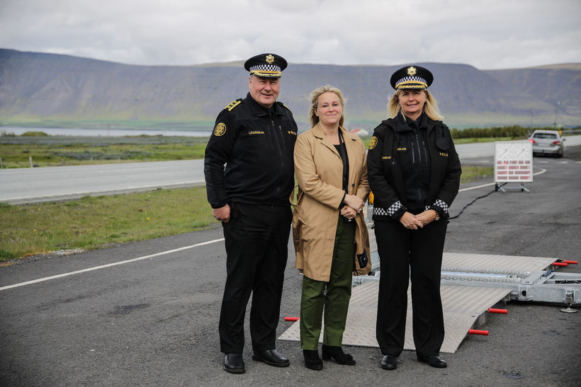 Kjartan Þorkelsson, lögreglustjórinn á Suðurlandi (t.v.), og Halla Bergþóra Björnsdóttir, ...