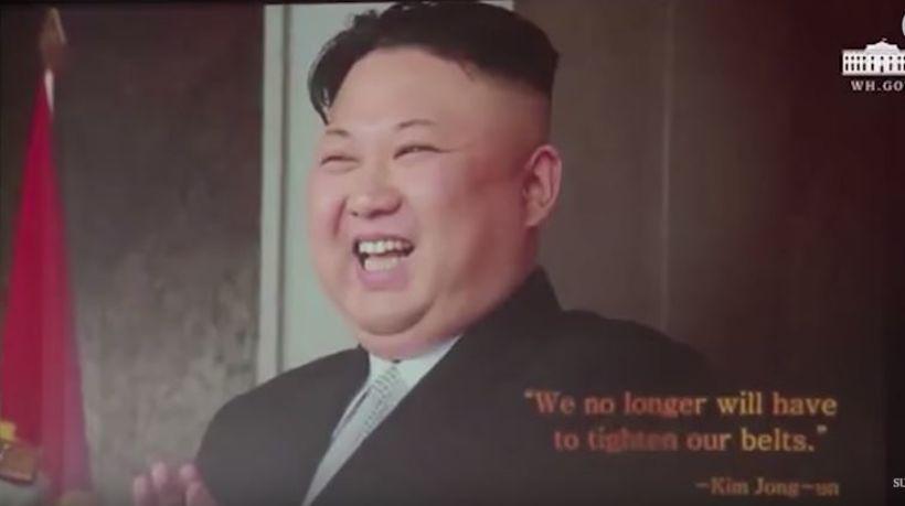 Trump sagði blaðamönnum að hann teldi Kim hafa kunnað að ...