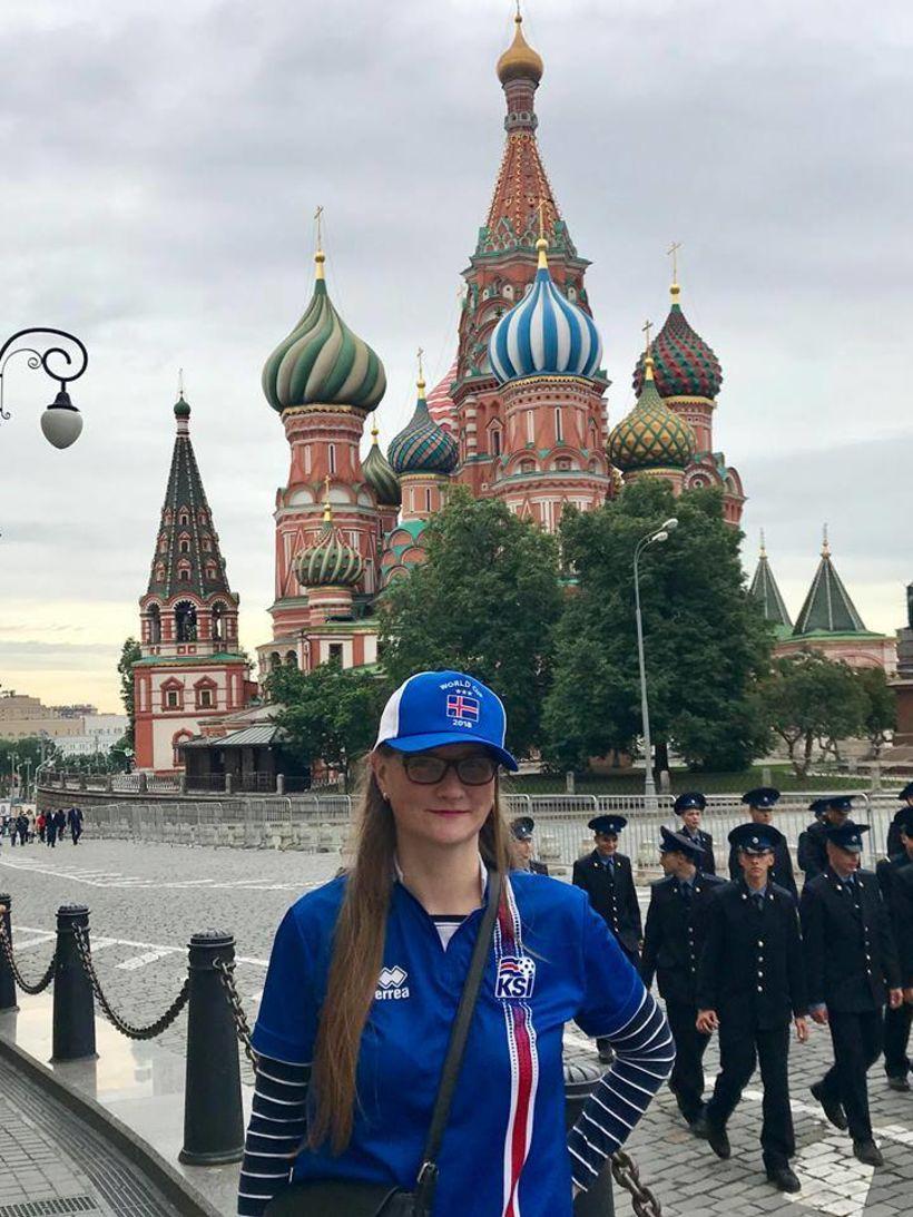 Kremlin í bak.