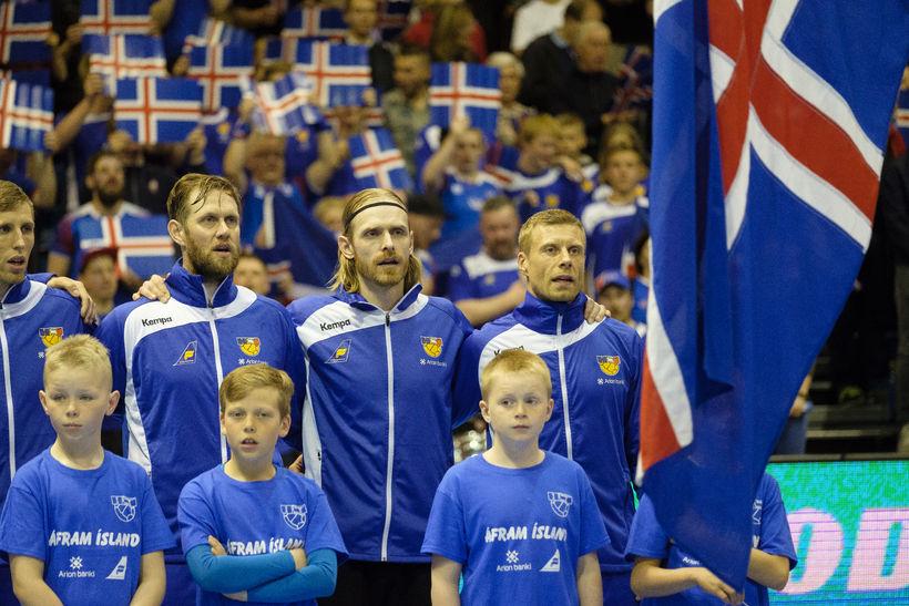 Ólafur Andrés Guðmundsson, Vignir Svavarsson, Björgvin Páll Gústavsson og Guðjón ...
