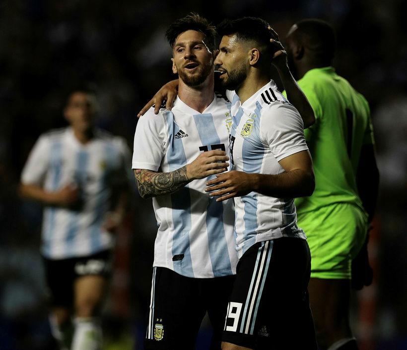 Sergio Agüero og Lionel Messi eru í leikmannahópi Argentínu en ...