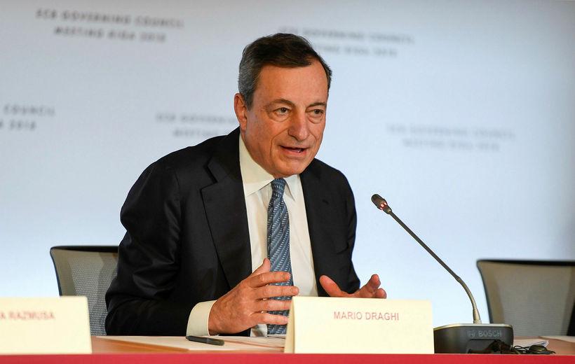 Mario Draghi, seðlabankastjóri Evrópu.