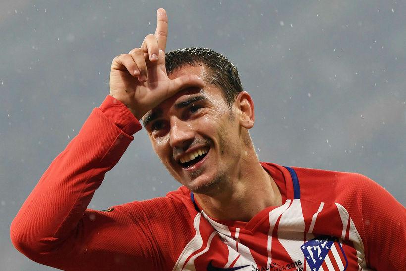 Antoine Griezmann verður áfram í herbúðum Atlético Madríd.